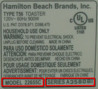 Sample Product Label